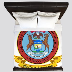 Michigan Seal King Duvet