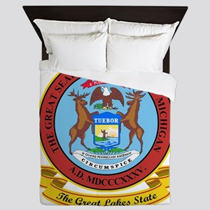 Michigan Seal Queen Duvet