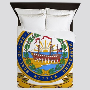 New Hampshire Seal Queen Duvet