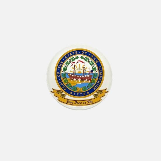 New Hampshire Seal Mini Button