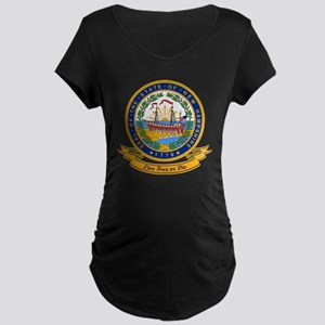 New Hampshire Seal Maternity Dark T-Shirt