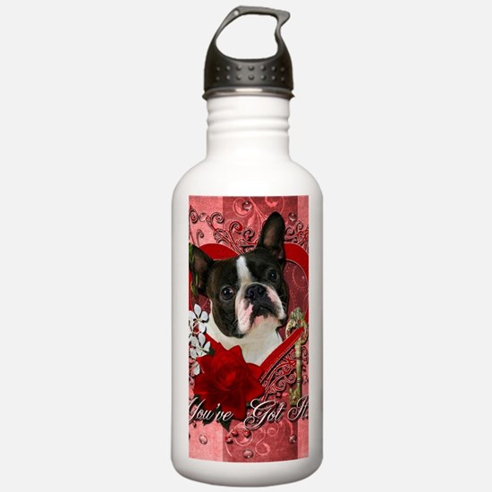 Valentine_Red_Rose_Bos Water Bottle