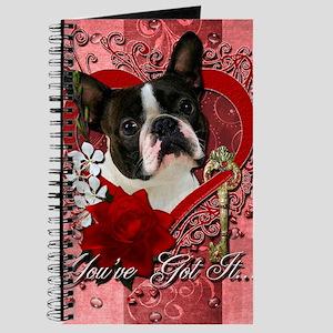 Valentine_Red_Rose_Boston_Terrier Journal