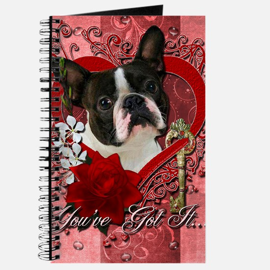 Valentine_Red_Rose_Boston_Terrier Journal