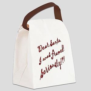 santaframed Canvas Lunch Bag