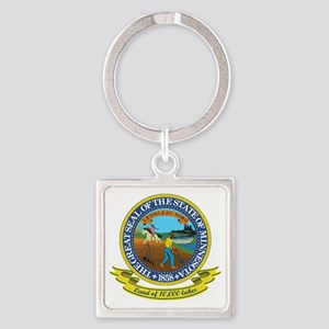 Minnesota Seal Square Keychain