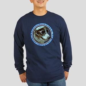 Hunter S Gonzo Long Sleeve Navy T-Shirt