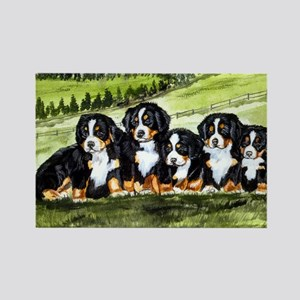 berner farm pups Rectangle Magnet