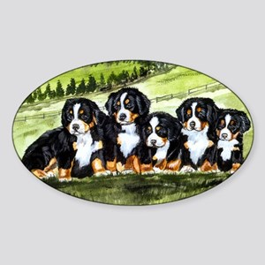 berner farm pups Sticker (Oval)