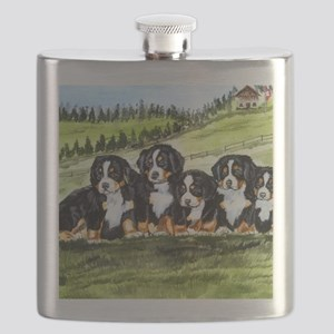 berner farm pups Flask