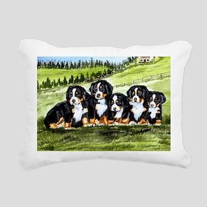 berner farm pups Rectangular Canvas Pillow