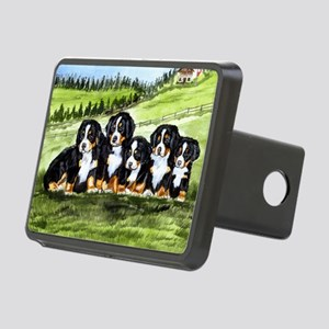 berner farm pups Rectangular Hitch Cover