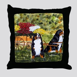 berner flower cart s Throw Pillow