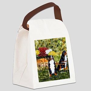 berner flower cart s Canvas Lunch Bag