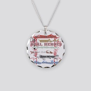 Real Heroes Necklace Circle Charm