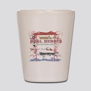 Real Heroes Shot Glass