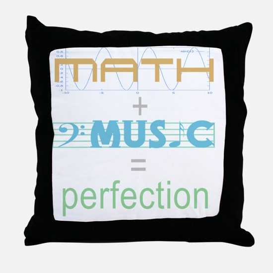 mathandmusic Throw Pillow