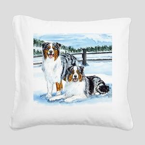 aussie winter blues Square Canvas Pillow