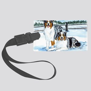 aussie winter blues Large Luggage Tag