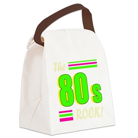 the 80s rock light 2 Canvas Lunch Bag
