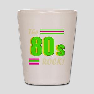 the 80s rock light 2 Shot Glass