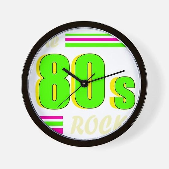 the 80s rock light 2 Wall Clock