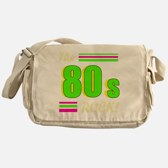 the 80s rock light 2 Messenger Bag
