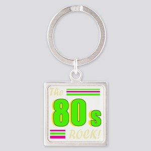 the 80s rock light 2 Square Keychain