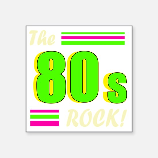 "the 80s rock light 2 Square Sticker 3"" x 3"""