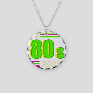 the 80s rock light 2 Necklace Circle Charm