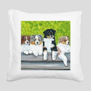 aussie babies Square Canvas Pillow