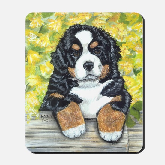 Berner fence pup Mousepad