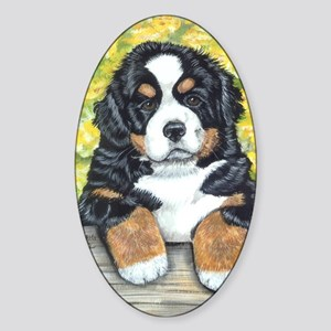 Berner fence pup Sticker (Oval)
