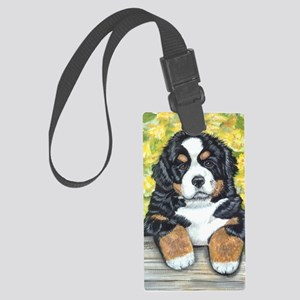 Berner fence pup Large Luggage Tag