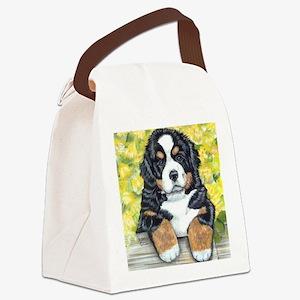 Berner fence pup Canvas Lunch Bag