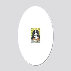 Berner fence pup 20x12 Oval Wall Decal