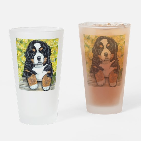 Berner fence pup Drinking Glass