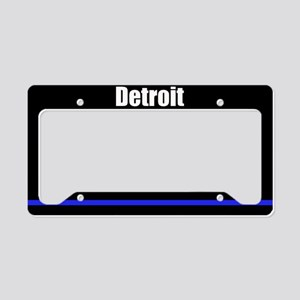 Detroit Police License Plate Holder