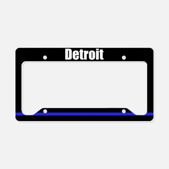 Detroit Police License Plate Holder