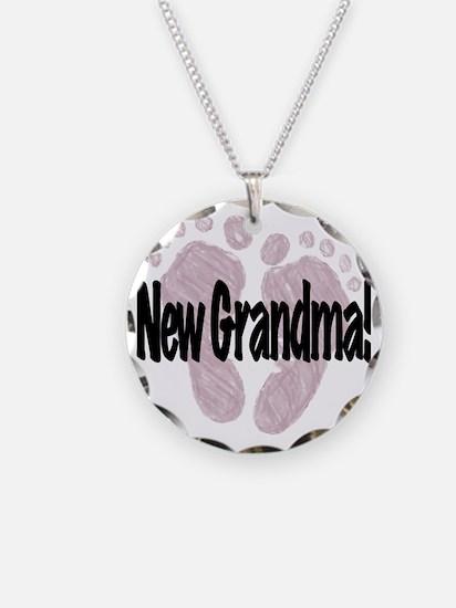 New Grandma (Girl) Necklace Circle Charm
