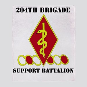 204th bde support bn with text Throw Blanket