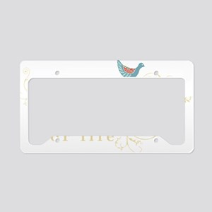 vegan-border2-blk License Plate Holder