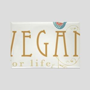 vegan-border2-blk Rectangle Magnet
