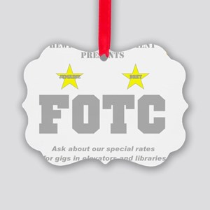 Hewitt FOTC gray clear Picture Ornament