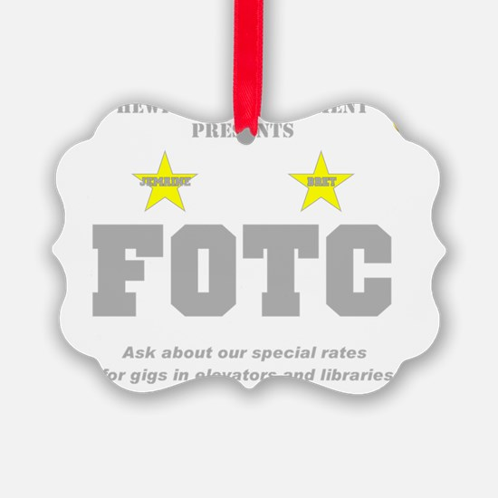 Hewitt FOTC gray clear Ornament