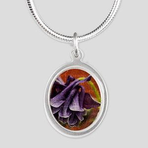 columbine_fullsize Silver Oval Necklace
