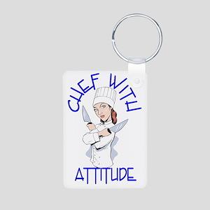 cwa_female_shirt_cr Aluminum Photo Keychain