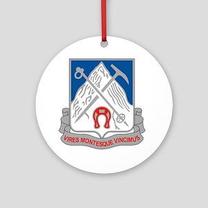 87th Infantry Regiment Round Ornament