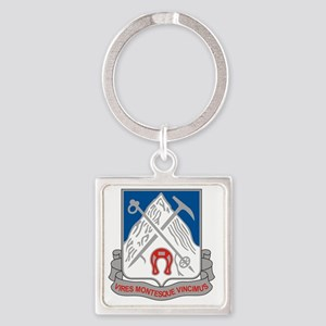 87th Infantry Regiment Square Keychain
