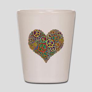 Peace Heart Light3 highpass4 Shot Glass